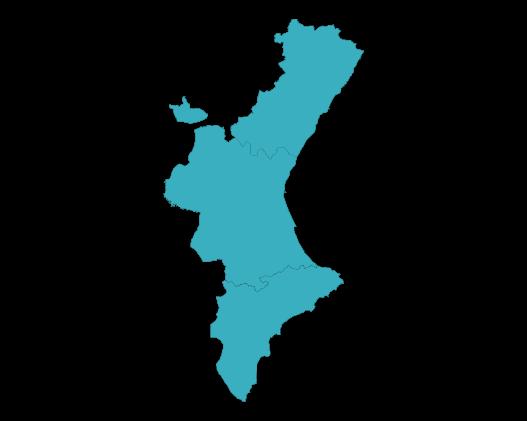 ASAPCV mapa Comunidad Valenciana